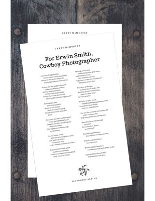 Picture of Southwest Review McMurtry Broadside